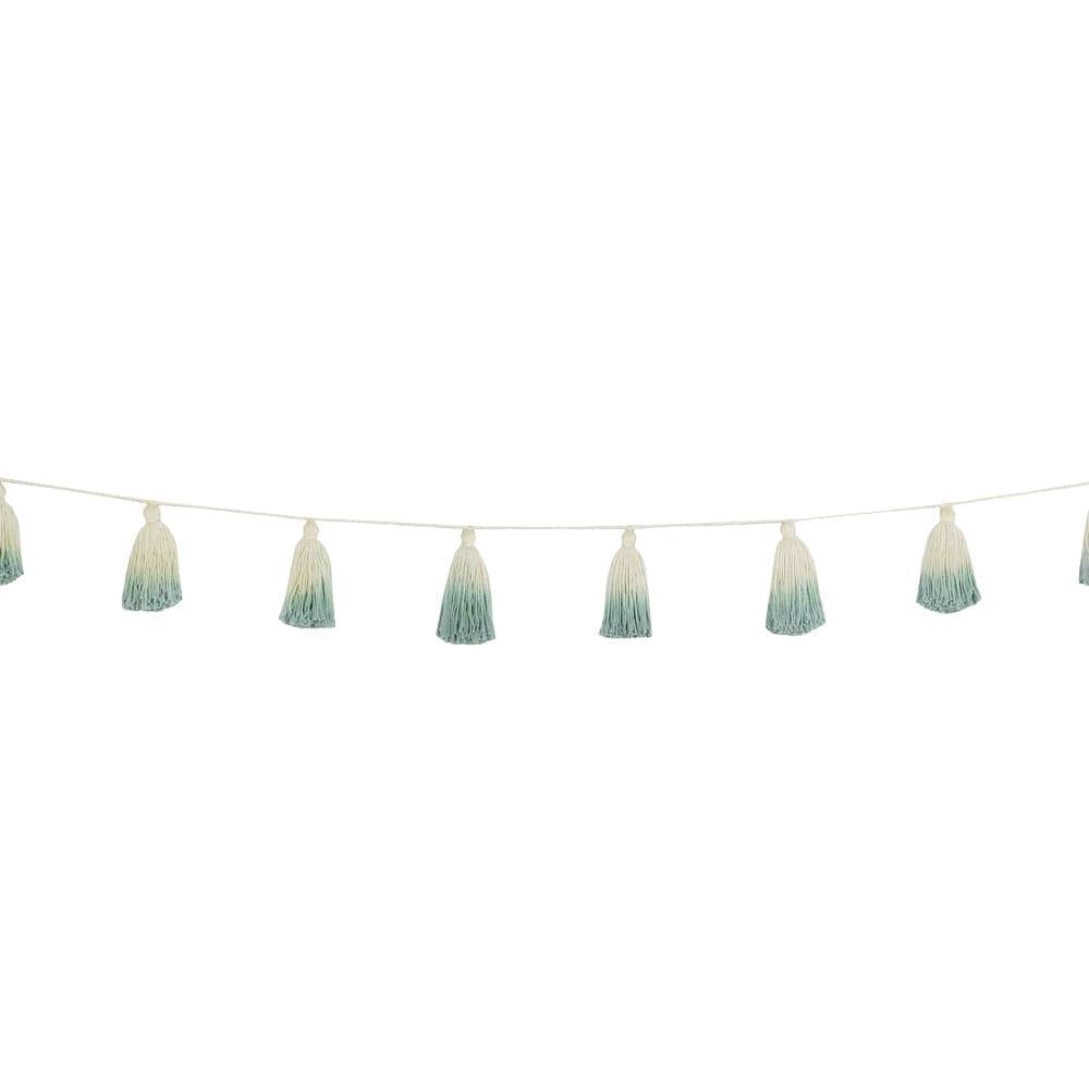 Lorena Canals - Garland - Pom Pom Tie Dye - Vintage Blue - 170 cm
