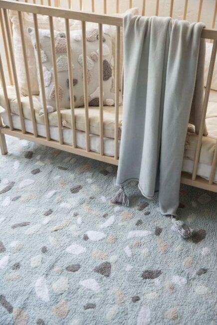 Lorena Canals - Waschbarer Teppich, Terrazzo - Aquamarine - 140 x 200 cm