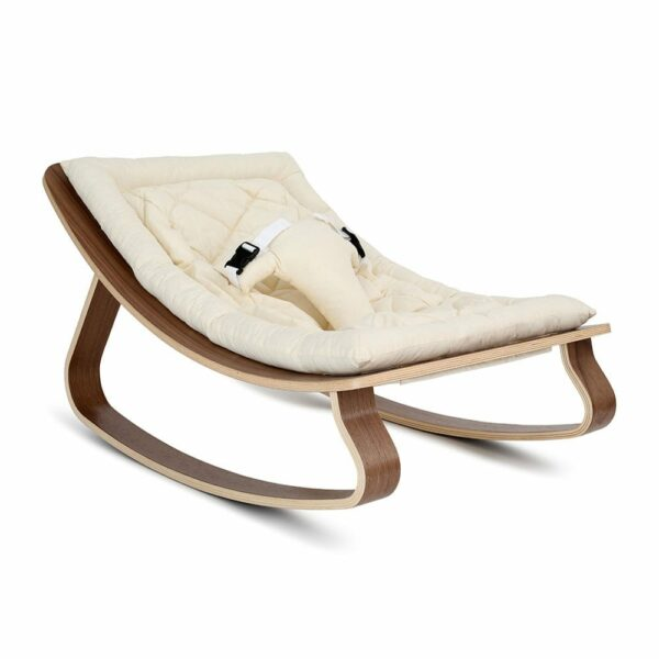 Baby-Rocker-LEVO-Walnut-with-organic-white-seat