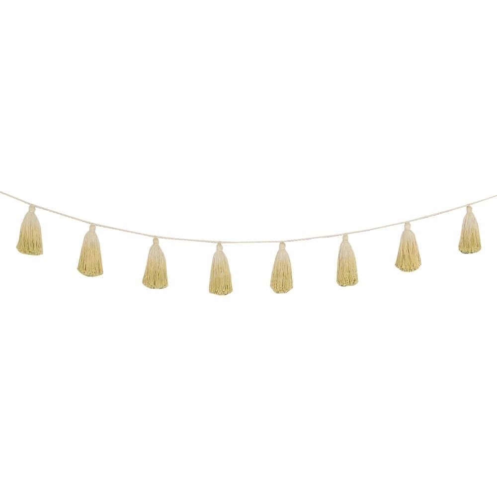 Lorena Canals - Garland - Pom Pom Tie Dye - Yellow - 170 cm
