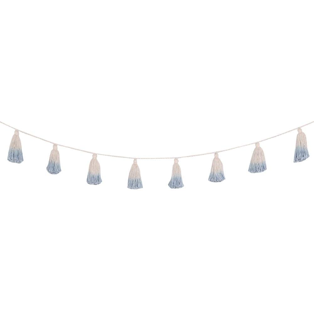 Lorena Canals - Garland - Pom Pom Tie Dye - Blue - 170 cm