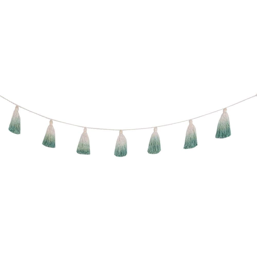 Lorena Canals - Garland - Pom Pom Tie Dye - Green - 170 cm