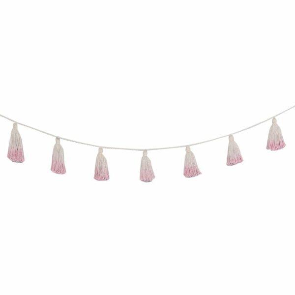 Lorena Canals - Garland - Pom Pom Tie Dye - Pink - 170 cm