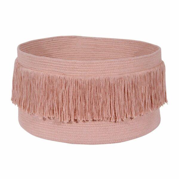 Lorena Canals - Fringes Basket - Sahara Nude - 25 x ø 45 cm