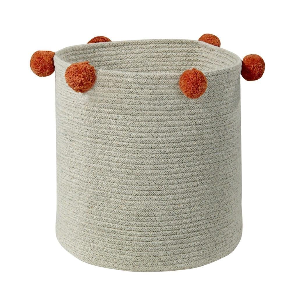 Lorena Canals – Storage Basket – Bubbly – Natural Terracotta – 30 x 30 cm