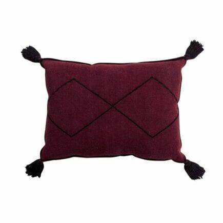 Lorena Canals - Washable Cushion - Bereber - Burgundy - 40 x 55 cm