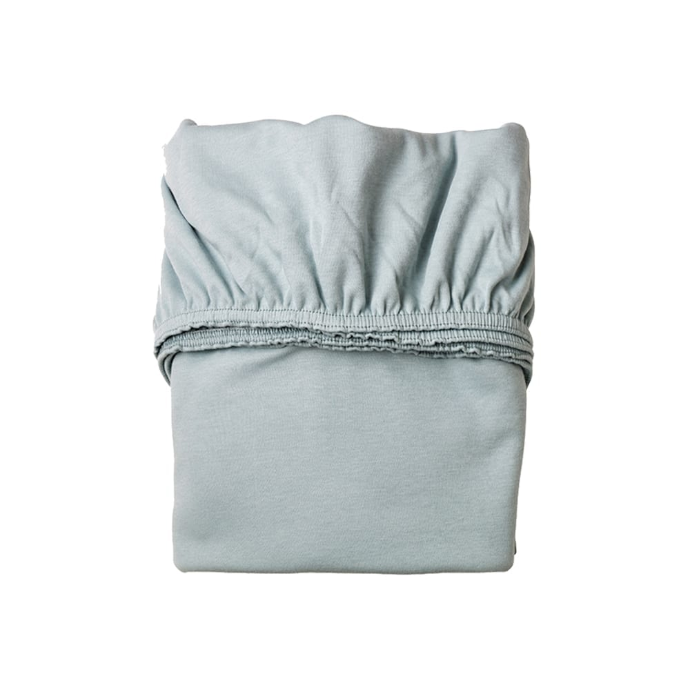 Leander – Sheet for Classic Baby Cradle Organic – Misty Blue (2pcs)