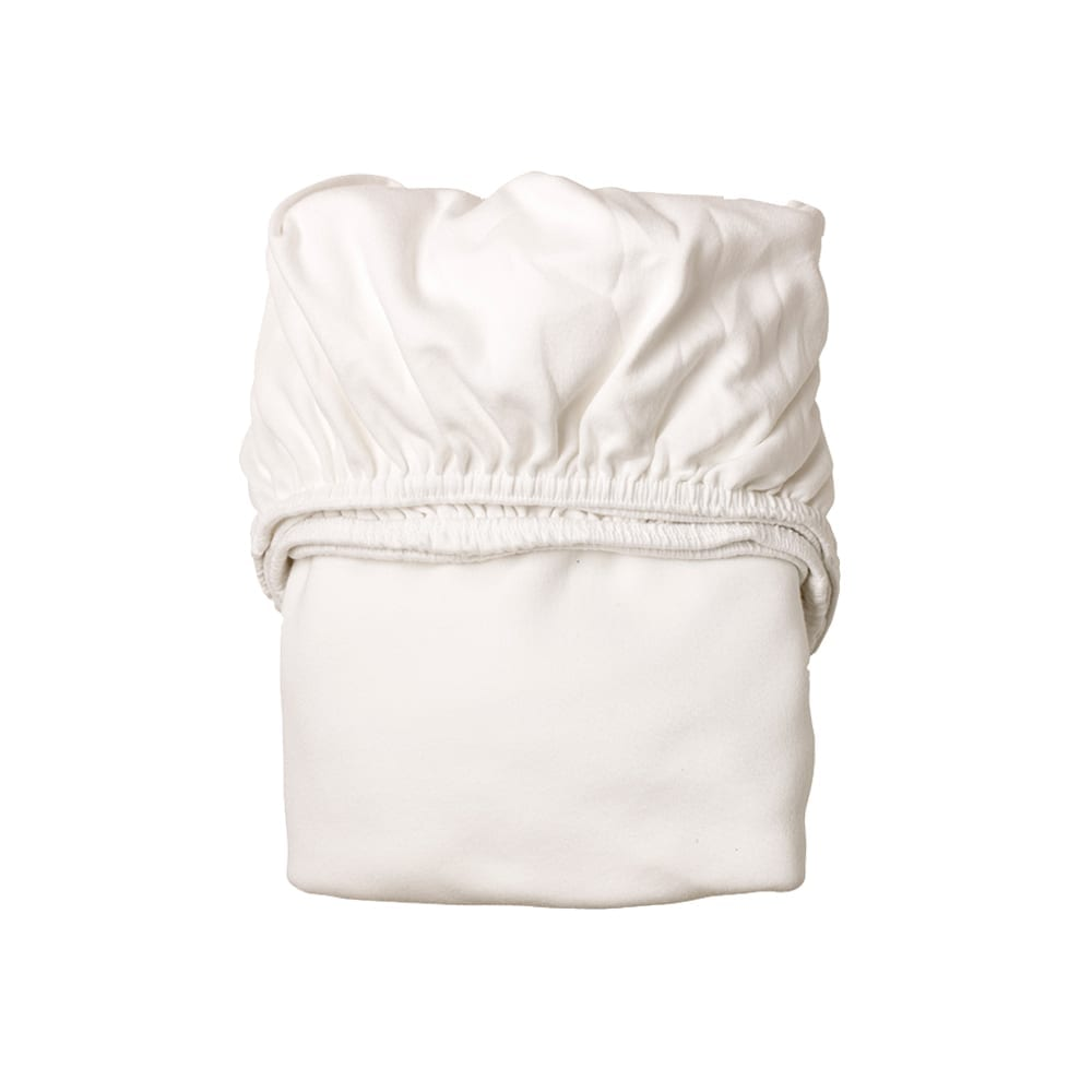 Leander – Sheet for Classic Baby Cradle Organic – Snow (2pcs.)