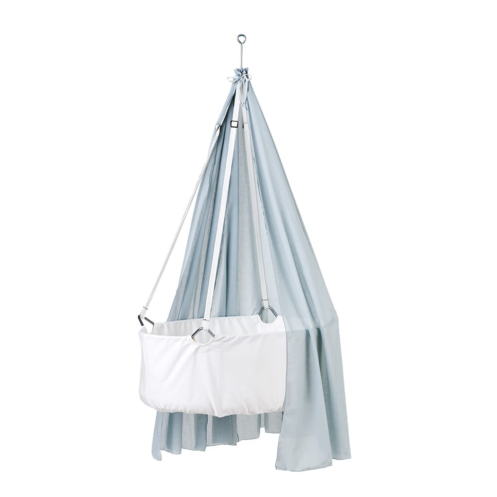 Leander – Canopy for Classic Baby Cradle – Misty Blue