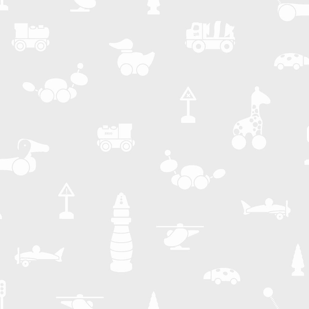 BoråsTapeter – Behang Kinderkamer – Brio Icons – Grey