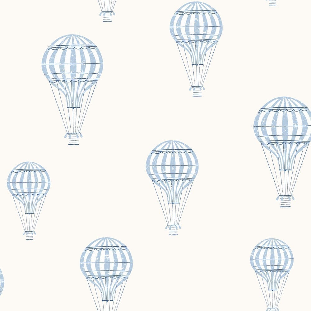 BoråsTapeter – Kinderzimmer Tapete – Ballong – Blau