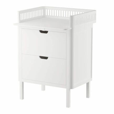 Sebra Dresser with changing unit 2 drawers classic white
