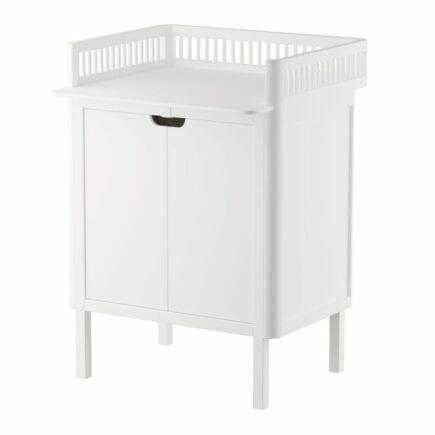 Sebra Dresser with changing unit 2 doors classic white