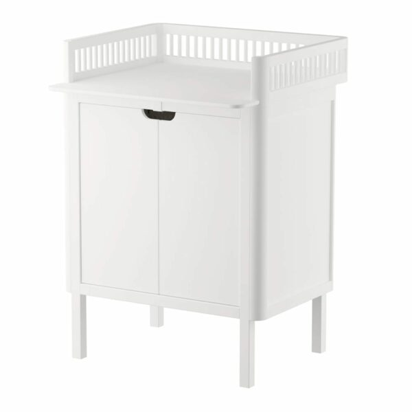 Sebra Dresser with changing unit 2 doors classic white