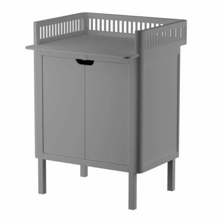 Sebra Dresser with changing unit 2 doors classic grey
