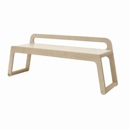 Rafa-kids - B Bench (120 cm) met rugleuning - Natural