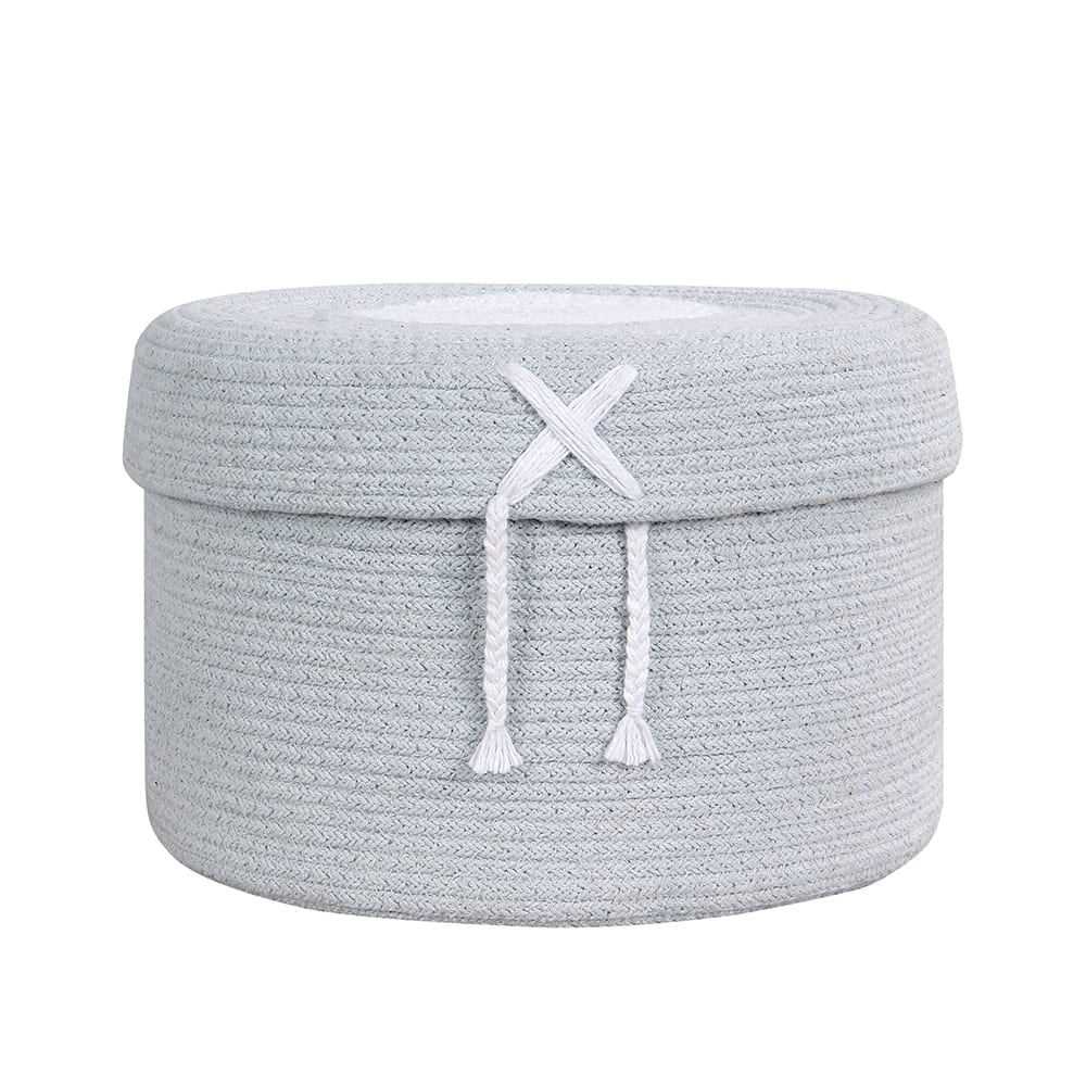 Lorena Canals – Basket – Candy Box – Light Blue – 20 x ø 30 cm