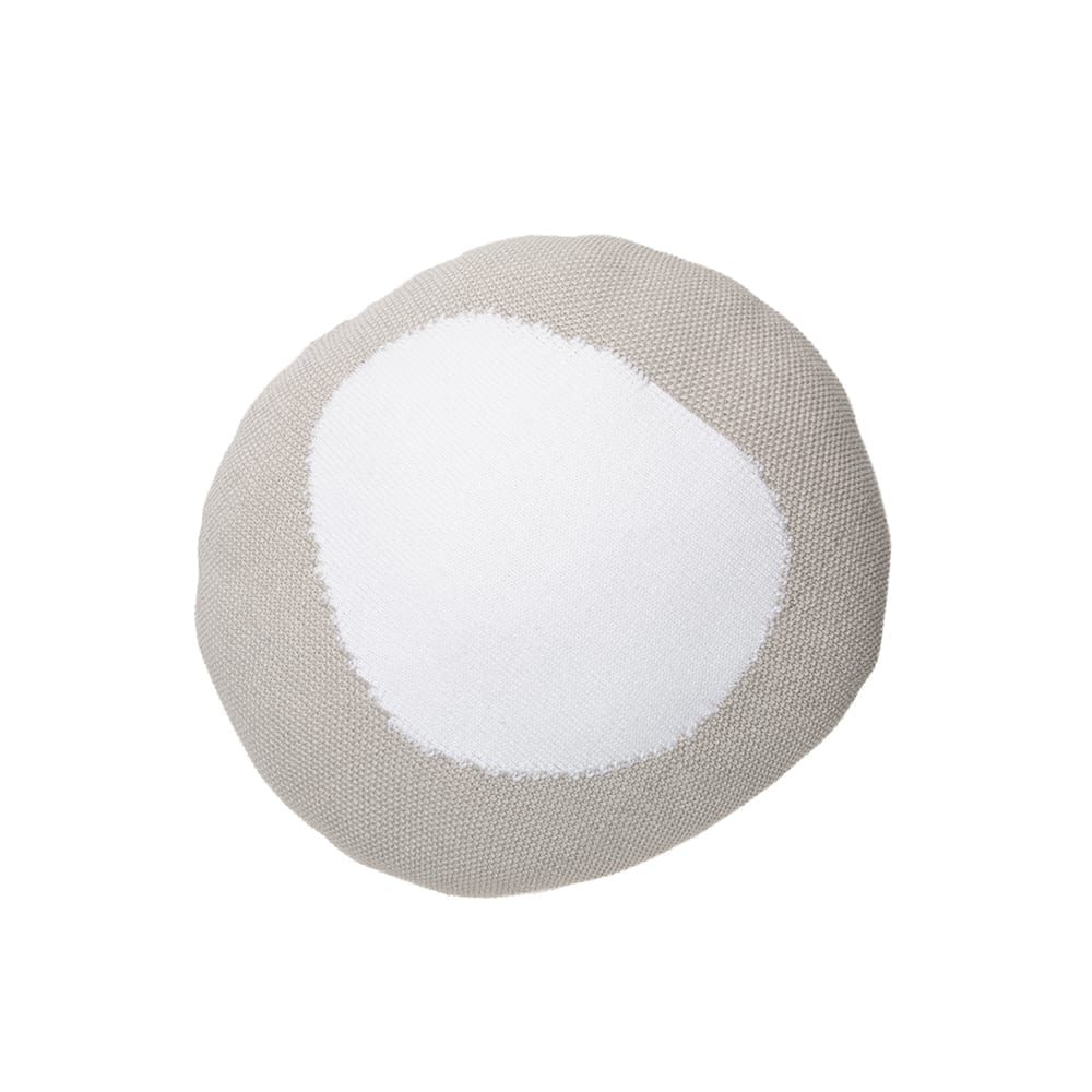 Lorena Canals – Knitted Cushion – Bonbon – Grey/White – 30 x 30 cm