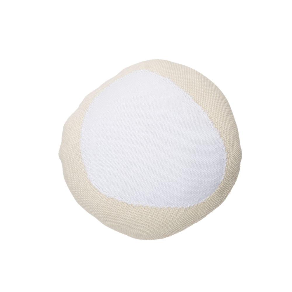 Lorena Canals – Knitted Cushion – Bonbon – Vanilla/White – 30 x 30 cm