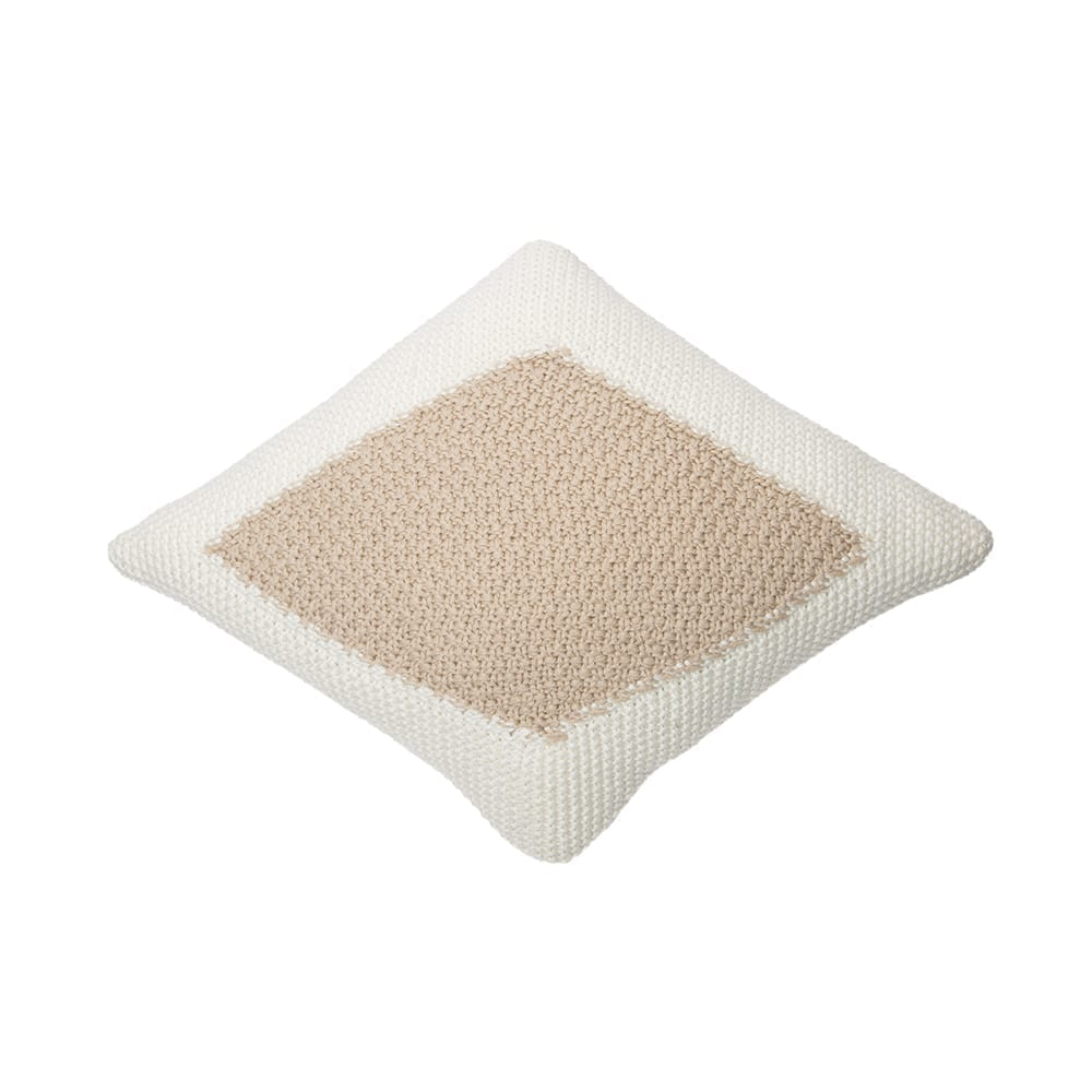 Lorena Canals – Knitted Cushion – Candy – Ivory/Linen – 30 x 40 cm