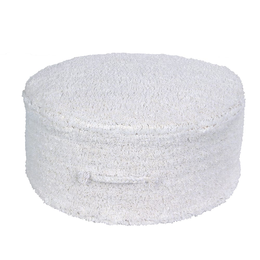 Lorena Canals – Washable Pouf – Chill – Ivory – 20 x Ø 50 cm