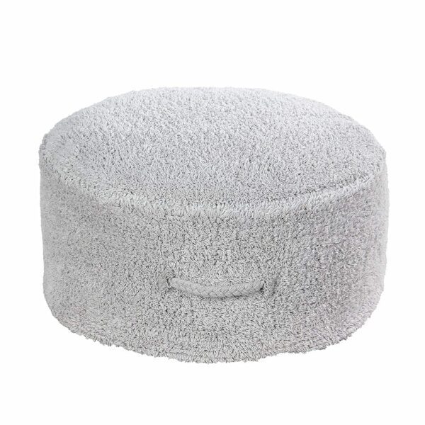 Lorena Canals - Washable Pouf - Pouffe Chill - Pearl Grey - 20 x Ø 50 cm