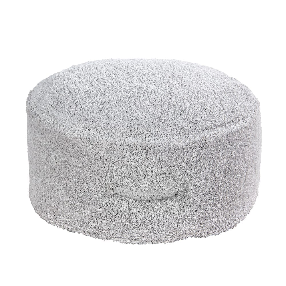 Lorena Canals – Washable Pouf – Chill – Pearl Grey – 20 x Ø 50 cm