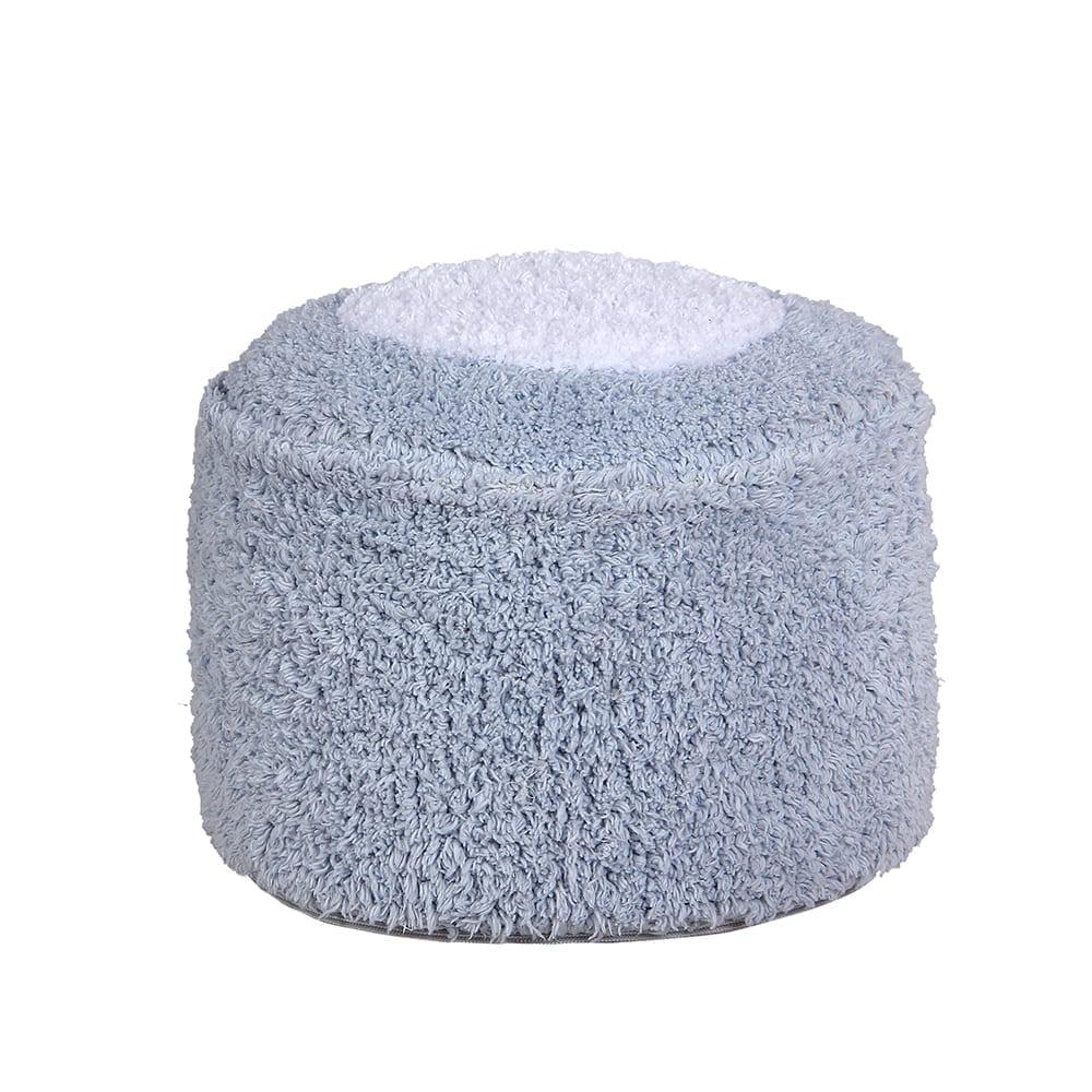 Lorena Canals – Waschbarer Pouf – Marshmallow Rund – Hellblau – 18 x Ø 27
