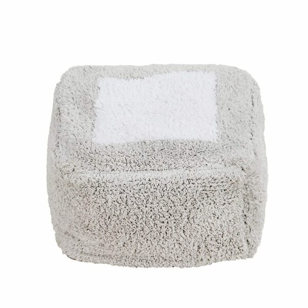 Lorena Canals - Washable Pouf - Pouffe Marshmallow Square - Pearl Grey - 18 x 30 x 39 cm