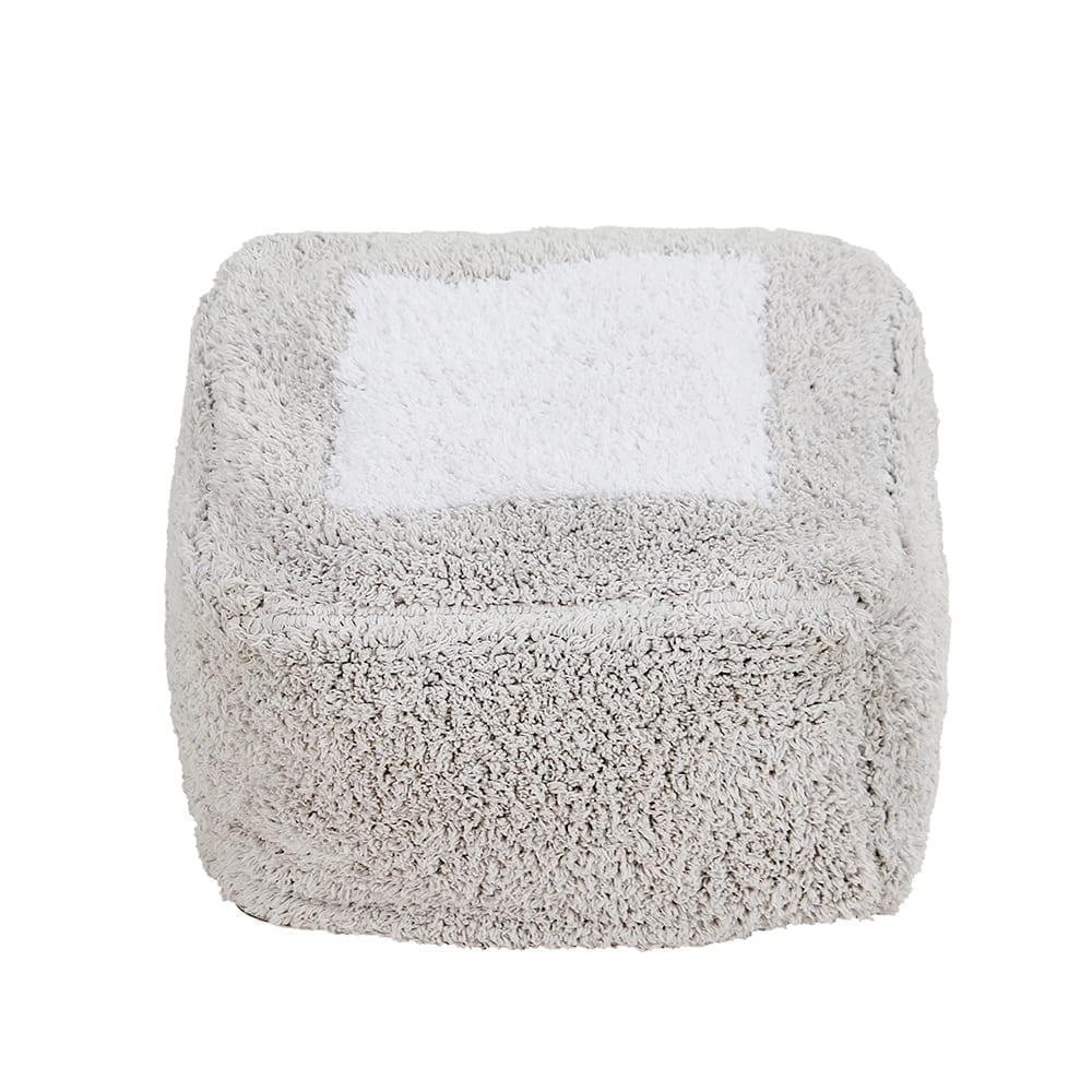 Lorena Canals – Waschbarer Pouf – Marshmallow Eckig – Pearl Grey – 18 x 30 x 39 cm