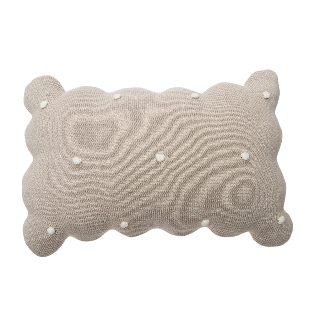 Lorena Canals – Knitted Cushion – Biscuit Dune White – 25 x 35 cm