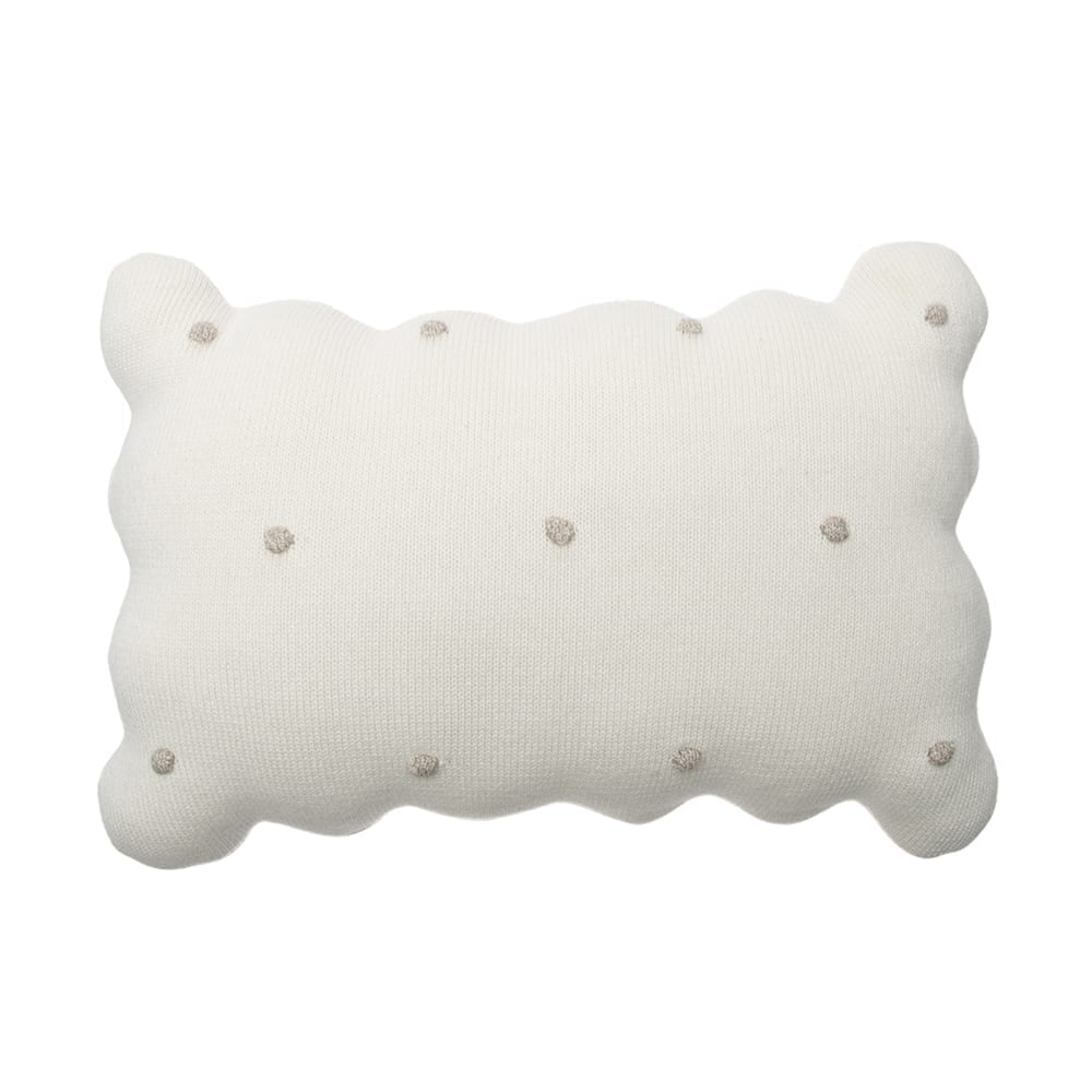 Lorena Canals – Knitted Cushion – Biscuit Ivory – 25 x 35 cm