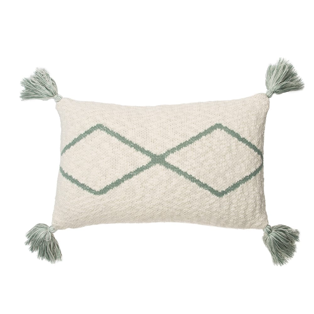 Lorena Canals – Knitted Cushion – Little Oasis Nat – Indus Blue – 25 x 40 cm
