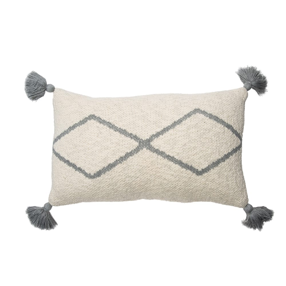 Lorena Canals - Knitted Cushion - Little Oasis Nat - Grey - 25 x 40 cm