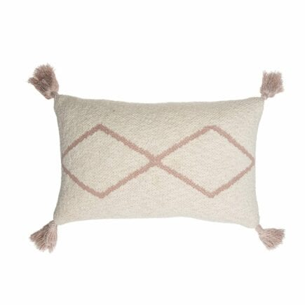Lorena Canals - Knitted Cushion - Little Oasis Nat - Pale Pink - 25 x 40 cm