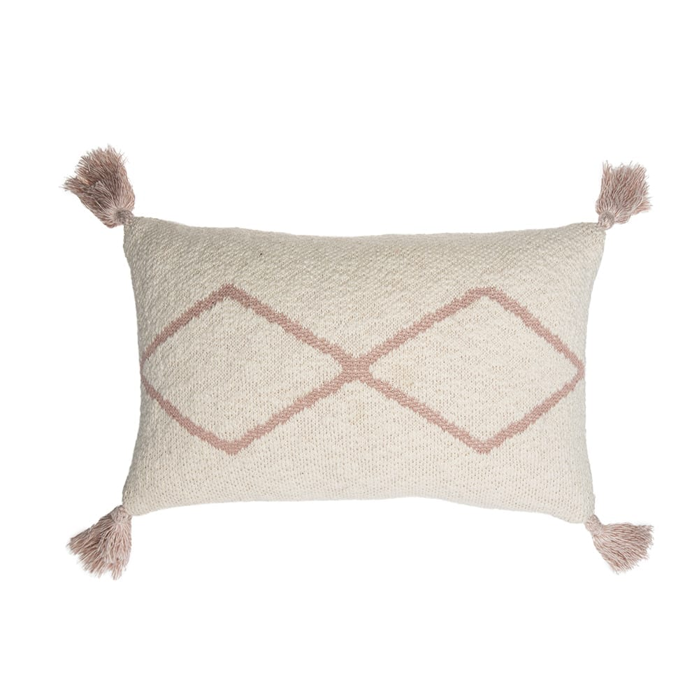 Lorena Canals – Knitted Cushion – Little Oasis Nat – Pale Pink – 25 x 40 cm