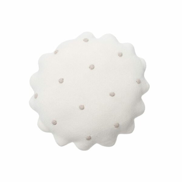 Lorena Canals - Knitted Cushion - Round Biscuit Ivory - 25 x 25 cm