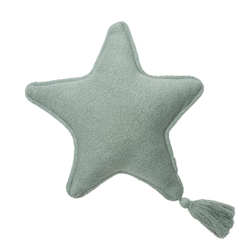 Lorena Canals – Knitted Cushion – Twinkle Star – Indus Blue – 25 x 25 cm