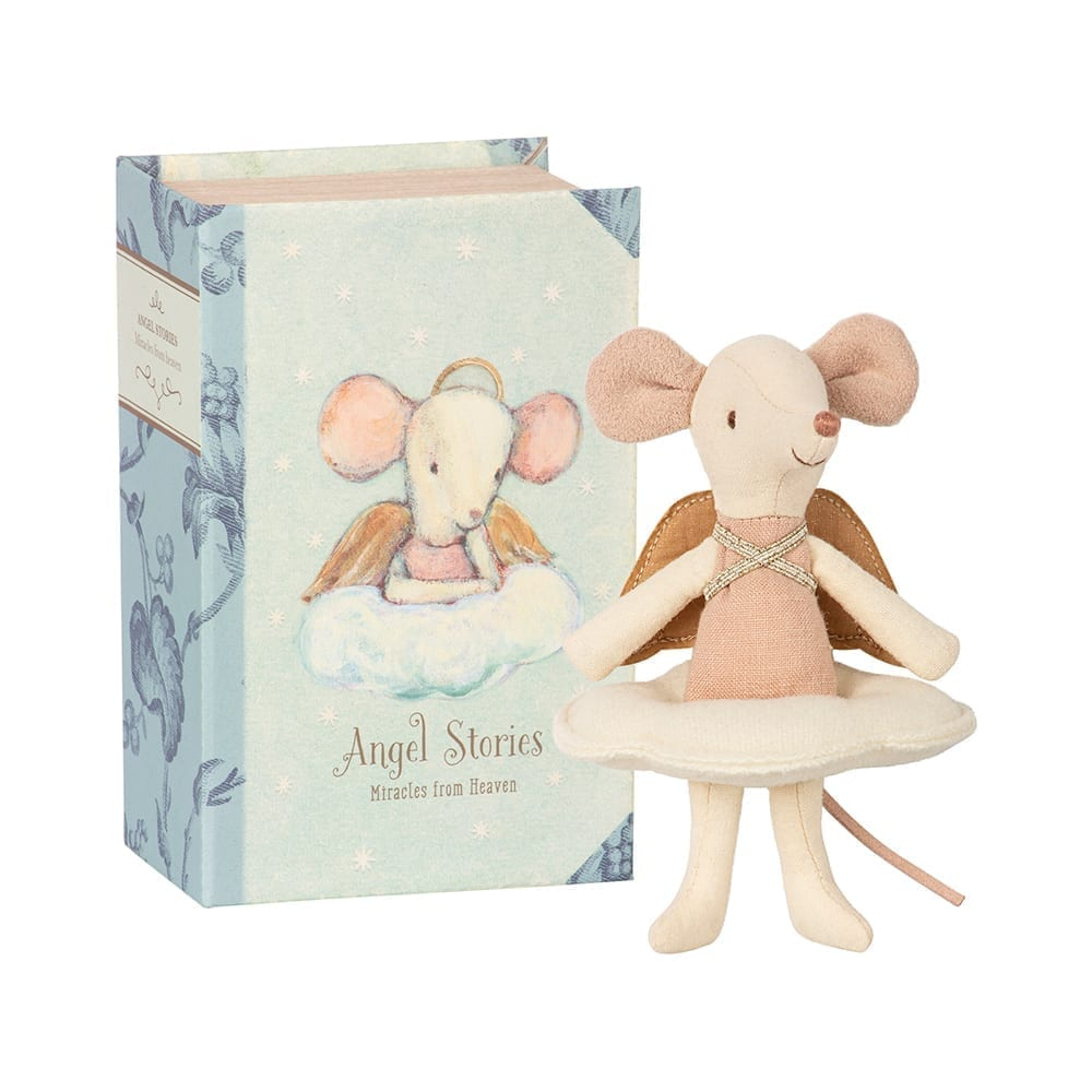 Maileg – Big Sister Mouse, Angel in Book – 12 cm