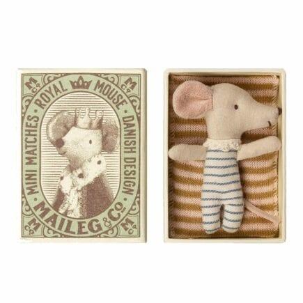 Maileg Baby Mouse Sleepy Wakey in Box Boy 16-9711-01