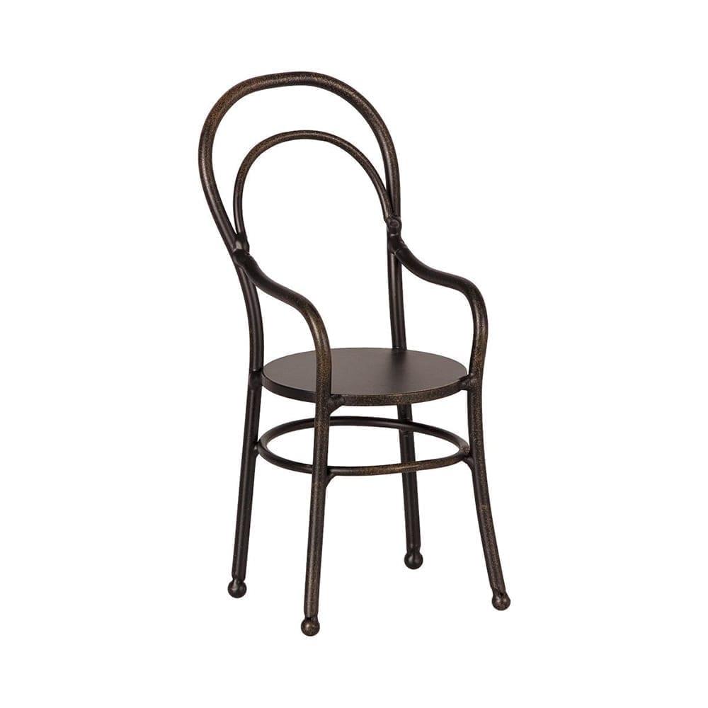 Metall Stuhl mit Armlehne – 13 cm