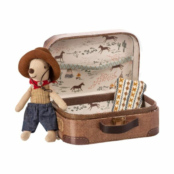 Maileg Cowboy in Suitcase, Little Brother 16-9723-01
