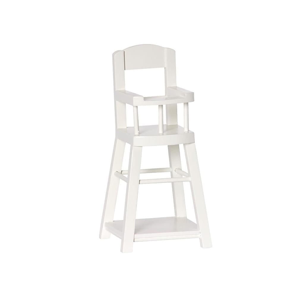 Maileg – Micro High Chair – Off White – 17 cm