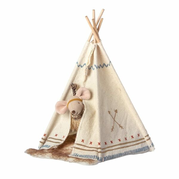 Maileg Little Feather w tent, Little Sister 16-9724-01