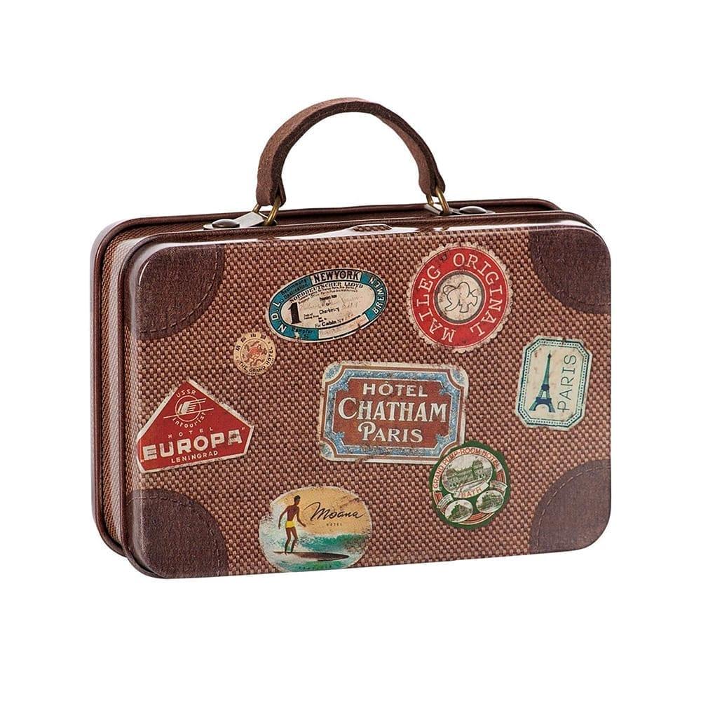 Metal Travel Suitcase, Brown