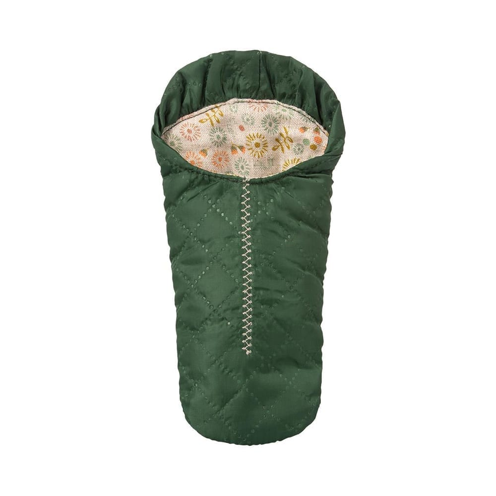 Maileg – Mouse Sleeping Bag, Small – Green – 16 cm