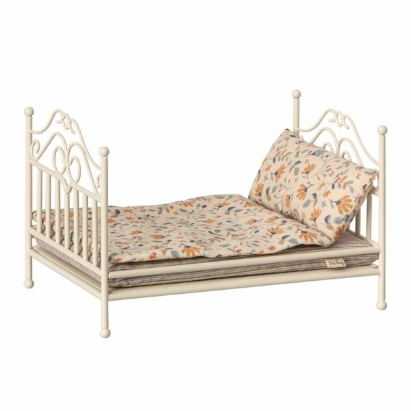 Maileg Vintage Bed, Micro, Soft Sand 11-9113-00