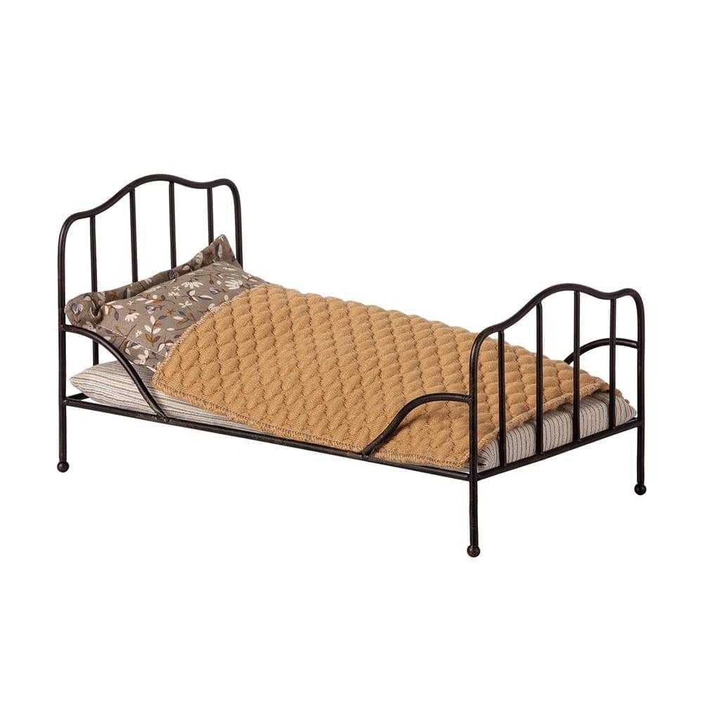 Maileg – Mini, Vintage Bed Anthracite