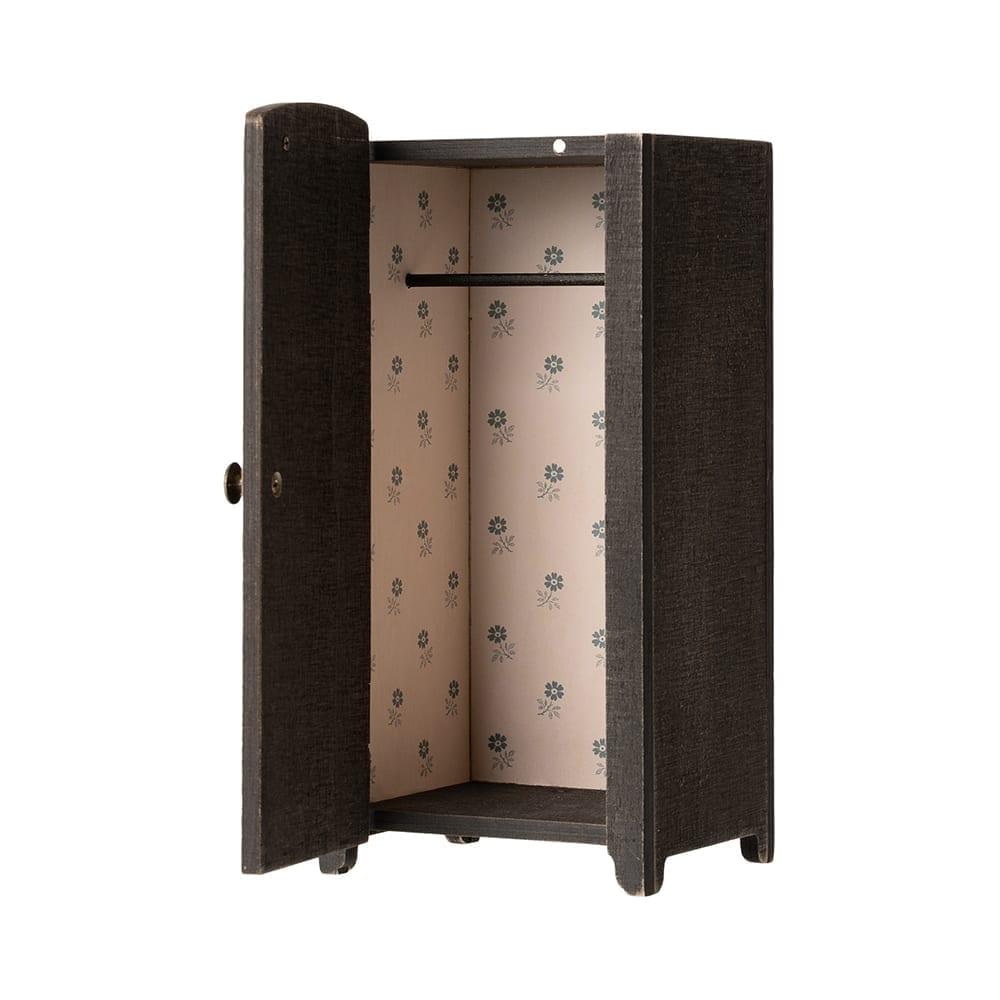 Maileg – Vintage Closet w. Hangers – Anthracite – 22 cm