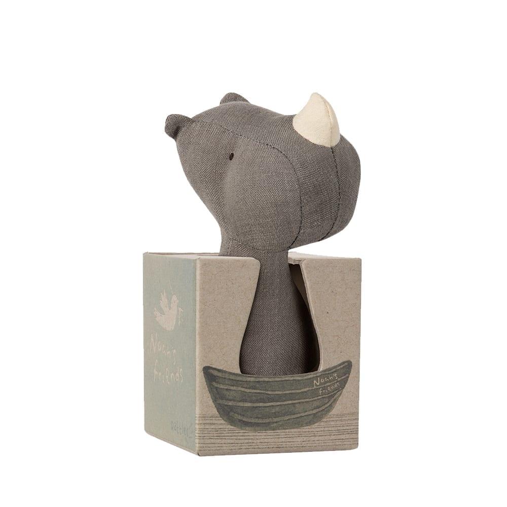 Maileg – Noah's Friends, Rhino Rattle – 12 cm